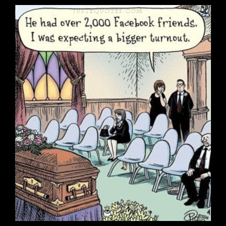 He has over 2000 Facebook friends. I was expecting a bigger turnout.