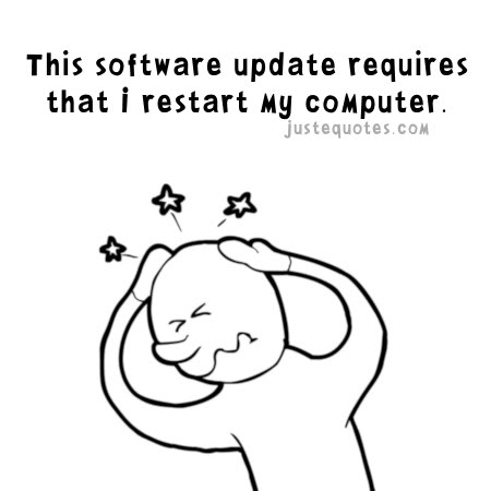 This software update requires that I restart my computer