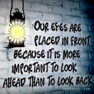 Our eyes are placed in front because …