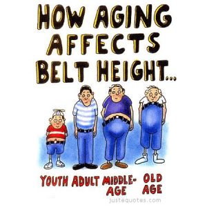 How aging affects belt height