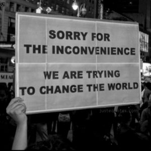 Sorry for the inconvenience. We are trying to change the world.