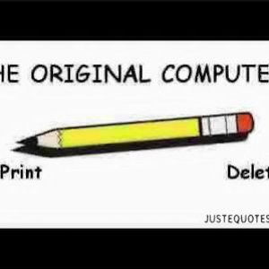 The original computer. Print. Delete.