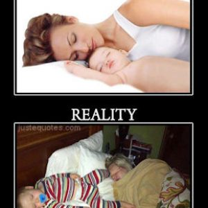 Perception vs. Reality – Sleeping with Baby