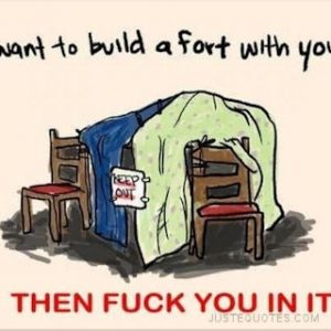 I want to build a fort with you …
