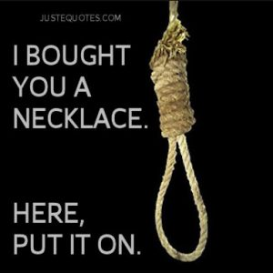I bought you a necklace. Here, put it on.