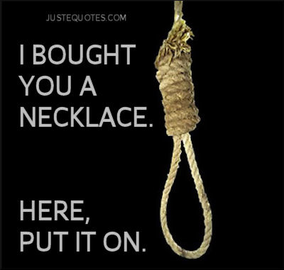 I bought you a necklace. Here put it on.
