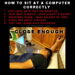 How to sit at a computer correctly