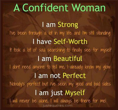 Quotes About Self Worth For Women A confident woman - I ...